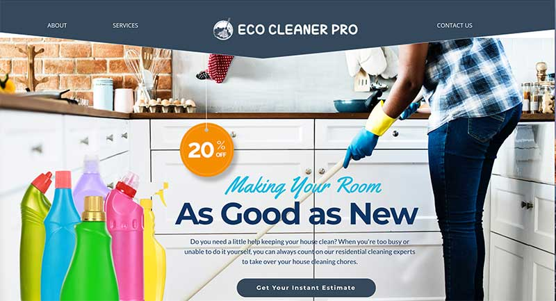 residential maid service website