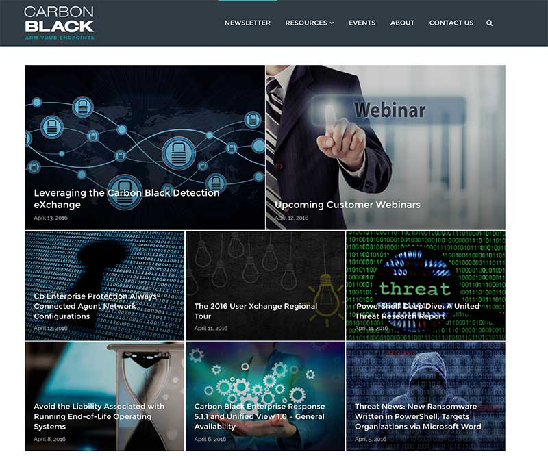 Ezine carbon black boston web design