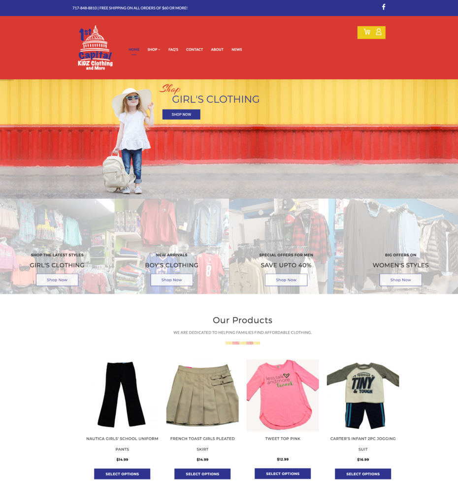 1st capital kids clothing & more